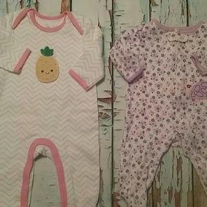 🍁BOGO 🍁  Infant girls sleepers 3/6m